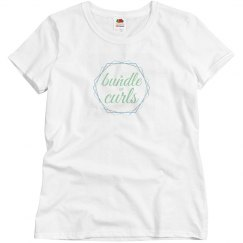 A Bundle of Curls logo tee