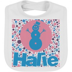 Snow girl bib