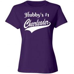 Hubby's #1 Cheerleader - Purple