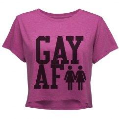 Gay AF Crop Shirt