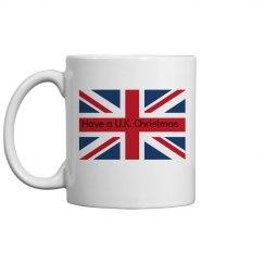 U.K. Christmas mug