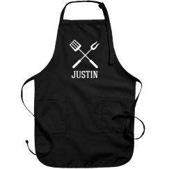 Justin personalized apron