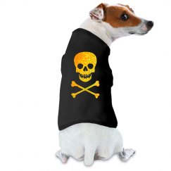 Glittery Halloween Skull Dog Shirt