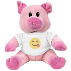 Face Savouring Delicious Food Small Plush Pig Piggie