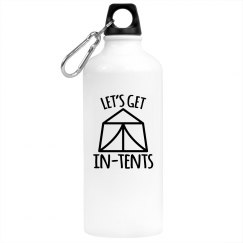 Let's Get In-Tents Water Bottle