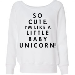 Cute Little Baby Unicorn
