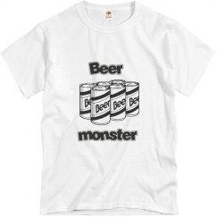 mens T shirt beer monster