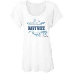 Navy Wife Anchor Tee