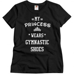 My princess wears gymnastic shoes