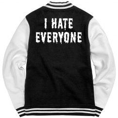 I Hate Trendy Text Bomber Jacket