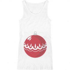 Xmas Ornament Maternity Tank