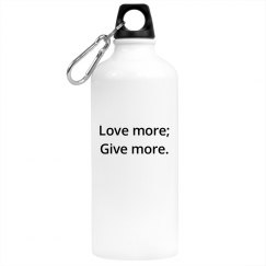 Love More water bottle