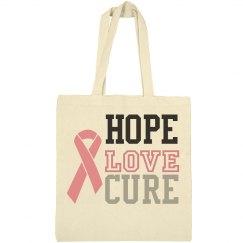 Hope Love Cure Bag
