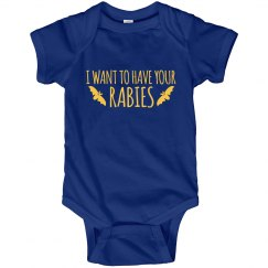 Want to Have Your Rabies Halloween Onesies