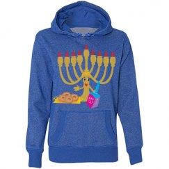 Cute Hanukkah Menorah & Dreidel