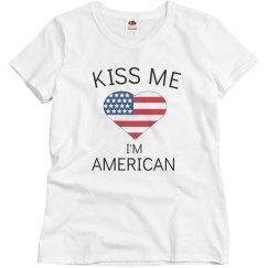 Kiss me I'm american