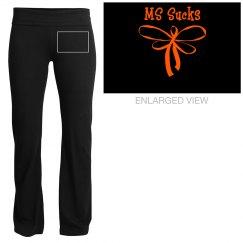 MS sucks Yoga Pants