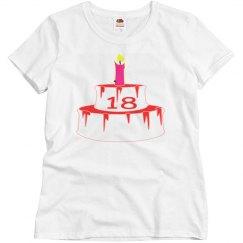 18TH Birthday Tee