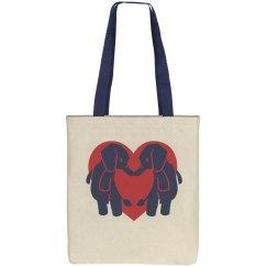 Elephant Heart Tote