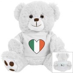 Irish Flag Heart Bear