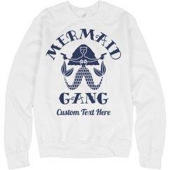 Custom Text Mermaid Gang Badass