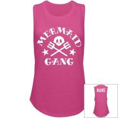Mermaid Gang Custom Name Back
