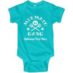 Baby Mermaid Onesie Mermaid Gang