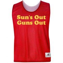 Sun's Out Guns Out Pinnie