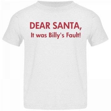 Dear Santa Heads Up