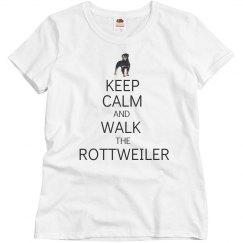 Walk the rottweiler