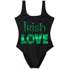 Green Metallic Irish Love