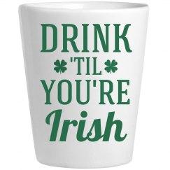 Irish Shot Glass St Patricks Day