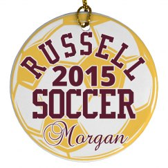 Russell Soccer Ornament