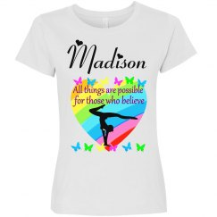 INSPIRING AND BEAUTIFUL PERSONALIZED GYMNASTICS T SHIRT