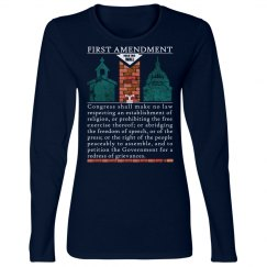 Protest First Amendment T Shirt Separation Church State