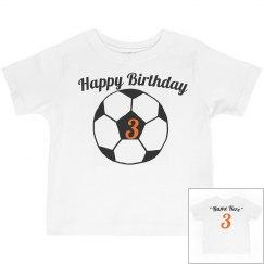 Soccer theme 3rd birthday