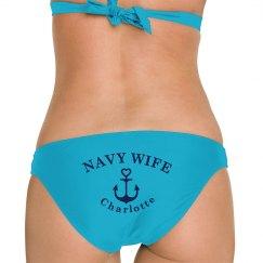 Custom Navy Wife Anchor