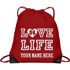Love LIFE cheer bag