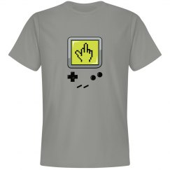 Don't hate the player, hate the Game Boy! - Grey Tee