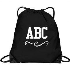 Custom Initials School Bag