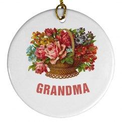 Floral Grandma Ornament