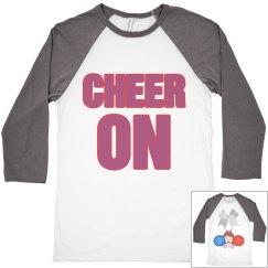 cheer on people