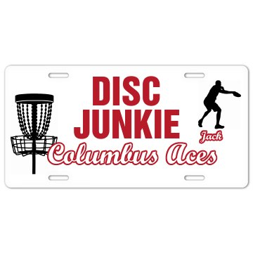 Disc Junkie Plate