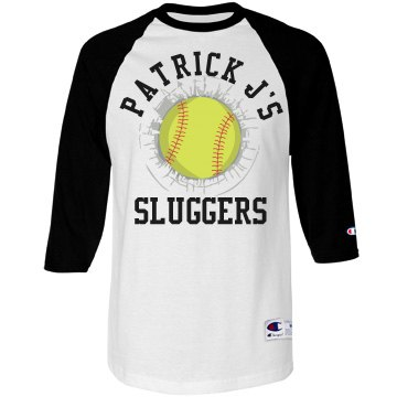 Distressed Softball Tee