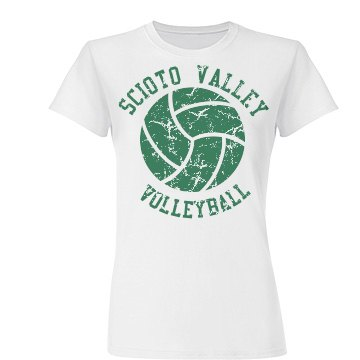 Distressed Volleyball Tee