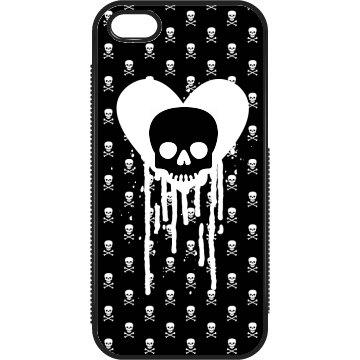 Dripping Heart Skulls