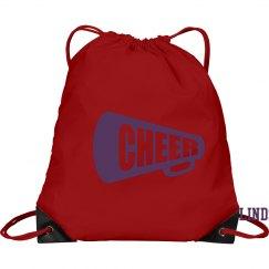 Drawstring Pink Cheer Bag