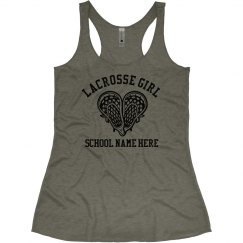 Lacrosse Girl Custom School Sports Tank