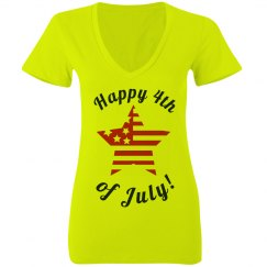 Neon 4th Of July Star