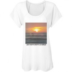 Sunrise and a surfer women's